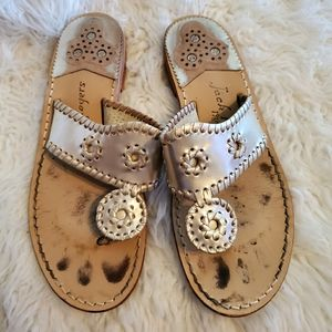 Jack Roger's gold sandals thongs
